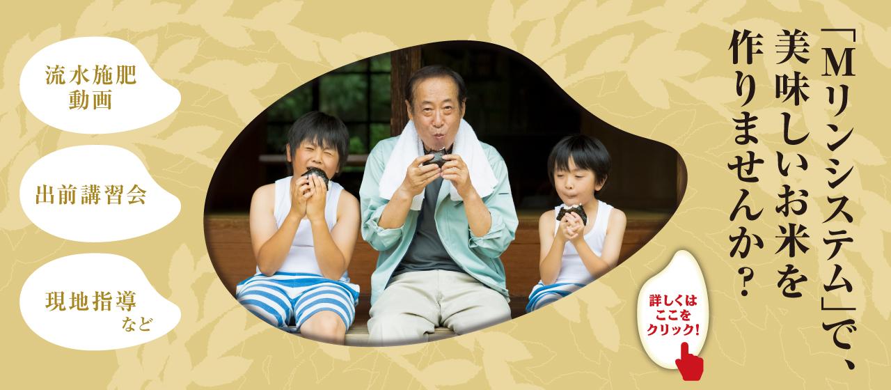 「Mリンシステム」で、美味しいお米を作りませんか?流水施肥動画・出前講習会・現地指導など!